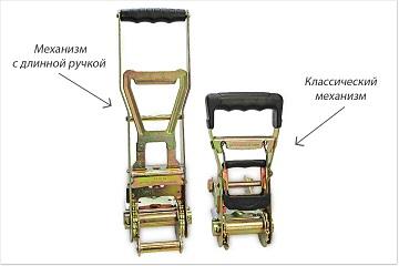 Классический и длинный механизм для стяжных ремней