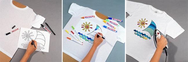 Раскрашиваем футболку маркерами Edding для текстиля