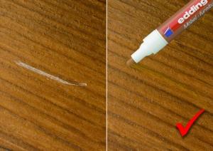 Результат использования маркера для мебели