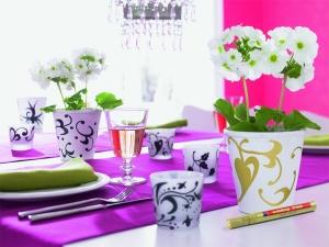 Декорируем посуду лаковыми маркерами