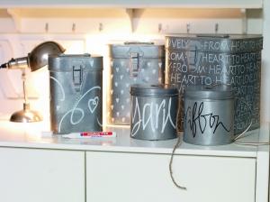 Декорируем банки для хранения продуктов